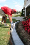 Decorative concrete kerbing