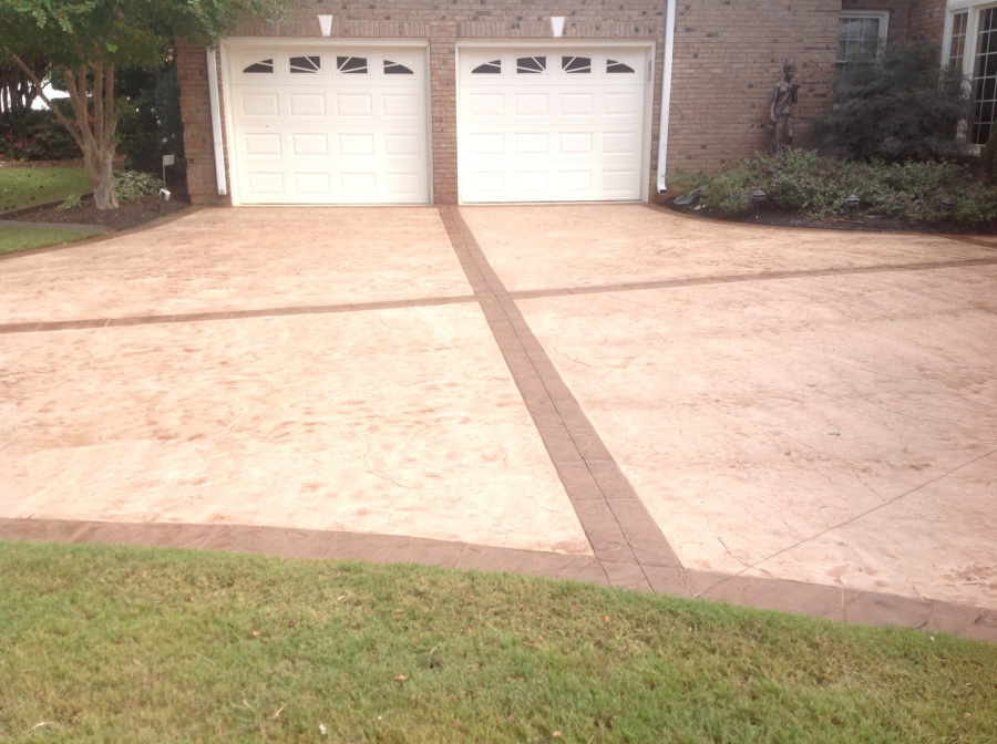 Decorative Concrete Edging And Concrete Overlays