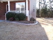 decorative concrete curb